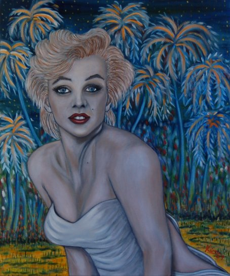 Oil Painting > About a Girl ( Marilyn Monroe )