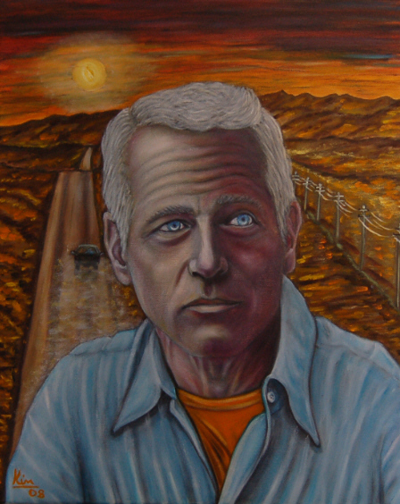 Oil Painting > End of Days ( Paul Newman )