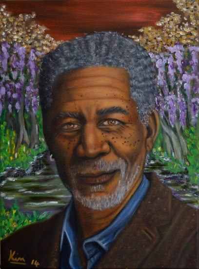 Oil Painting > Loose Ends > Morgan Freeman