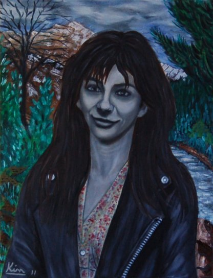 Oil Painting > Mods and Rockers ( Kate Bush )