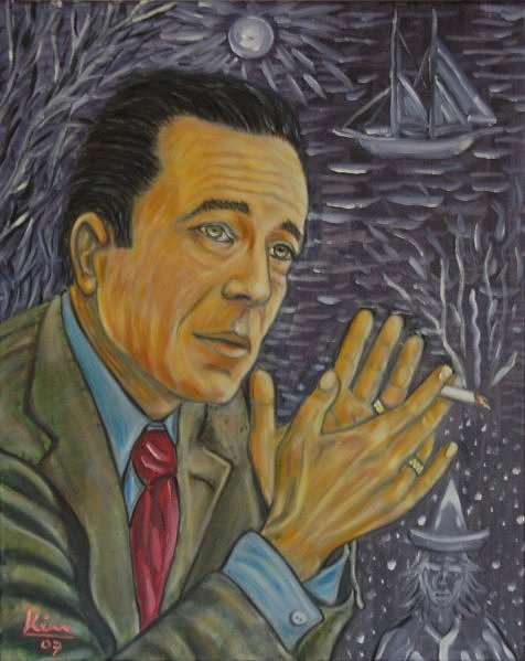 Oil Painting > Pond Life ( Humphrey Bogart )