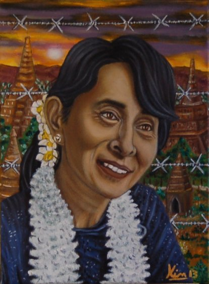 Oil Painting > Pride of Burma > Aung San Suu Kyi