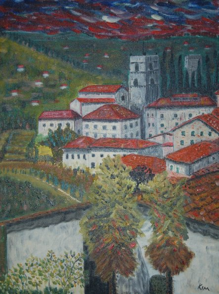 Oil Painting > Red Roofs > No price guide Offers considered