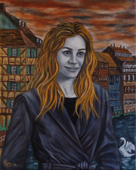 Oil Painting > Swan Song ( Julia Roberts )