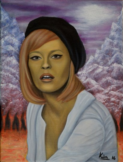 Oil Painting > The Warming > Faye Dunaway
