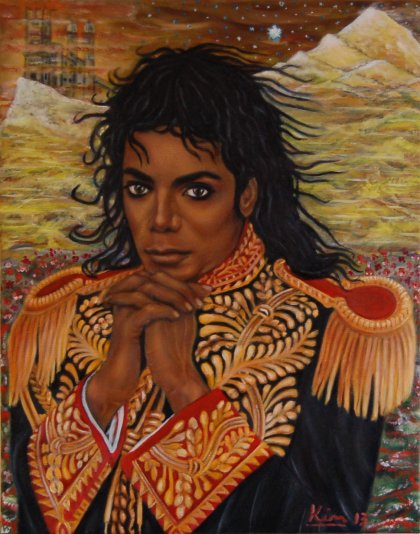 Oil Painting > Wind of Change > Michael Jackson